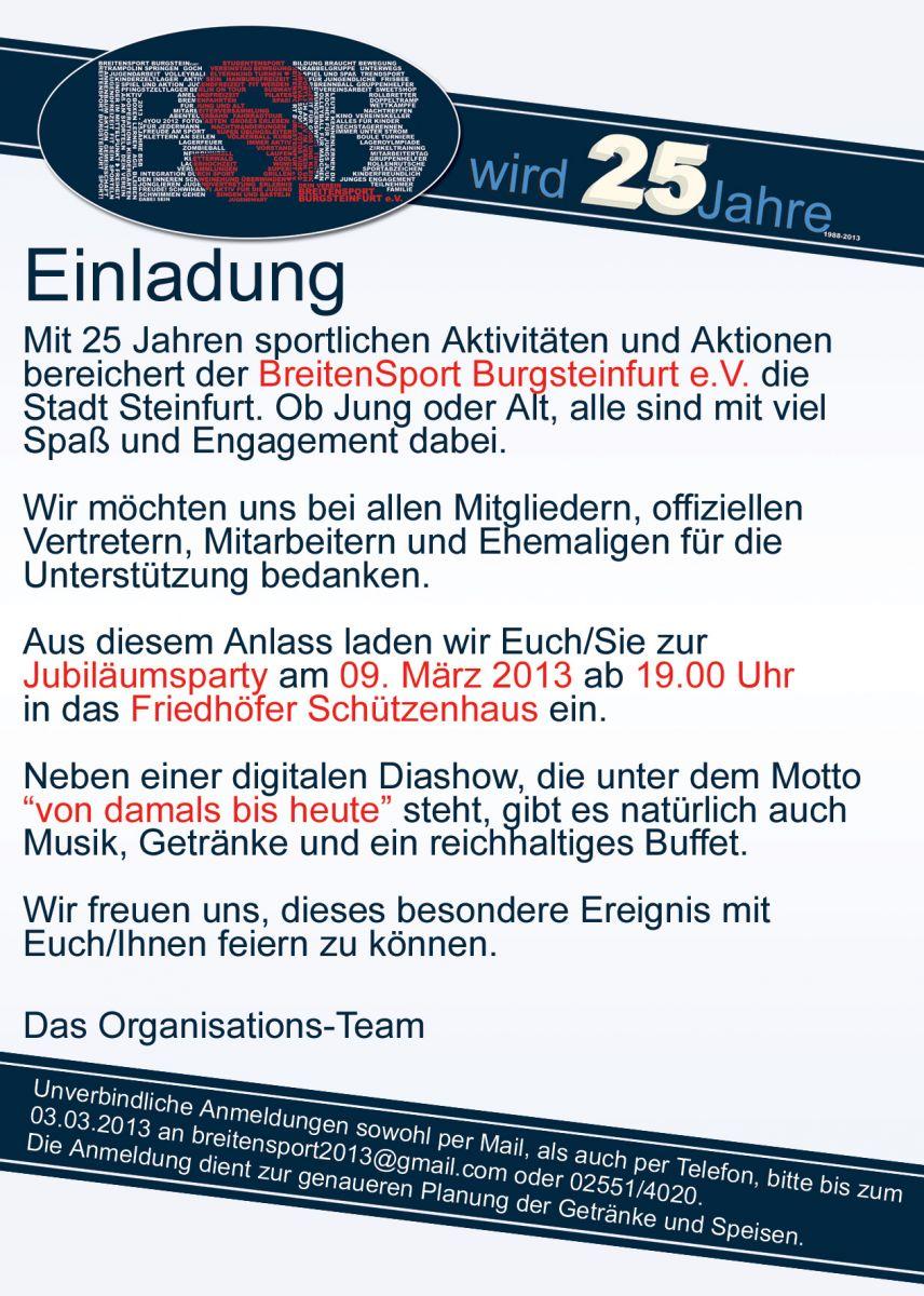 Breitensport-Burgsteinfurt.de - Aktuelles - Sportverein mit Sport, Spiel und Spaß in Steinfurt
